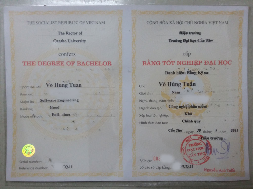 vohungtuan degree